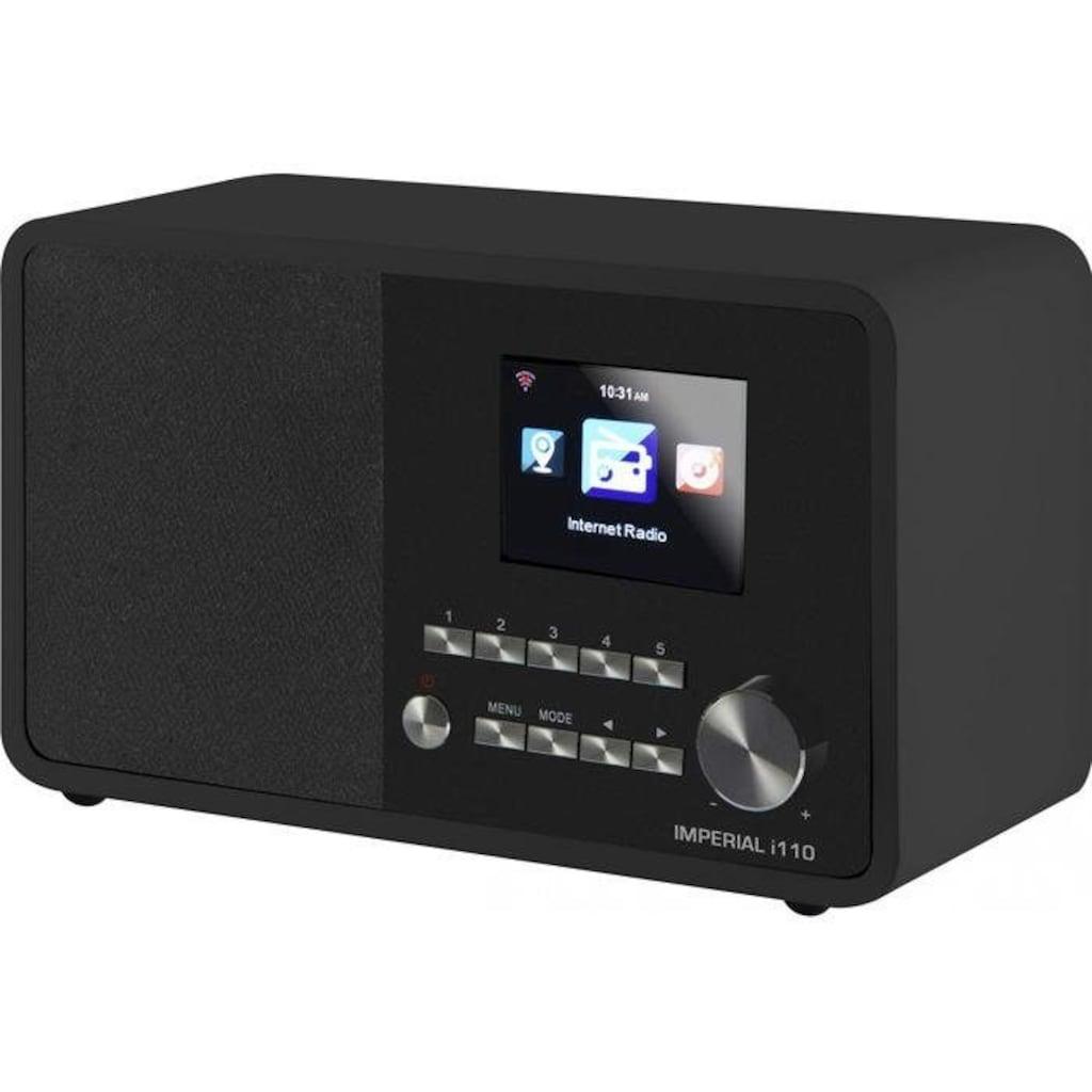 IMPERIAL by TELESTAR Internet-Radio »i110«, (WLAN-CD Internetradio), TFT Farbdisplay-(USB, WLAN, TFT Farbdisplay; Wecker)