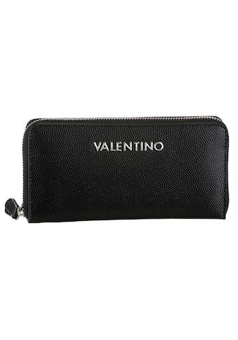 VALENTINO BAGS Geldbörse »Divina«, mit leicht genarbter Oberläche und silberfarnene... kaufen
