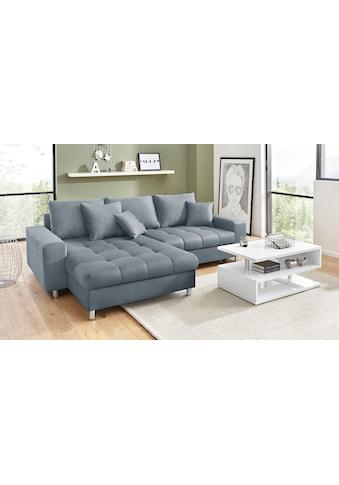 Nova Via Ecksofa »Tobi 4«, wahlweise mit Kaltschaum (140kg Belastung/Sitz),... kaufen