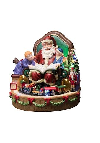 KONSTSMIDE LED-Dekofigur, LED Szenerie Weihnachtsmann mit Kindern und Zug, 8... kaufen