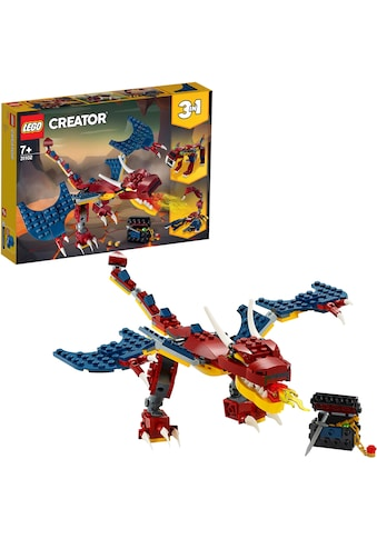 LEGO® Konstruktionsspielsteine »Feuerdrache (31102), LEGO® Creator 3in1«, (234 St.),... kaufen