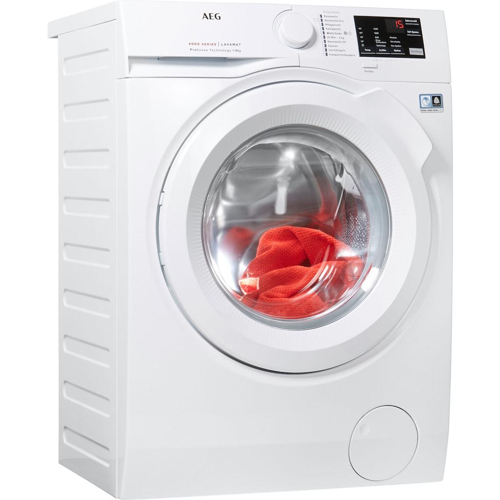 AEG Waschmaschine »L6FB50480«, L6FB50480, ProSense - Mengenautomatik