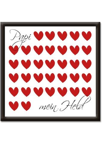 Artland Wandbild »Papi mein Held« kaufen