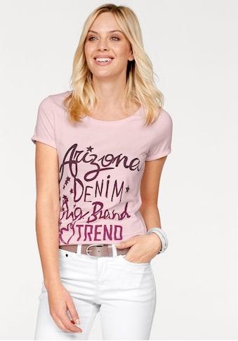 Arizona Rundhalsshirt, mit Logo-Schriftzug kaufen