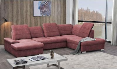 mokebo Wohnlandschaft »Kordula«, Sofa in U-Form mit Schlaffunktion & Bettkasten,... kaufen