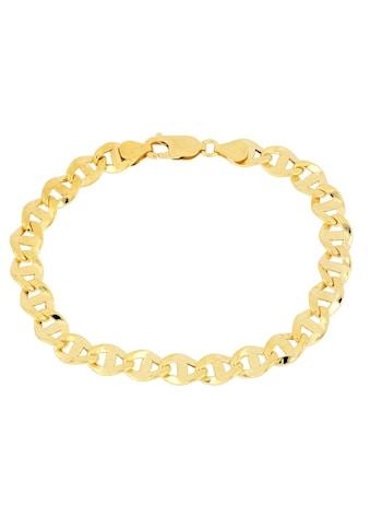 Firetti Goldarmband »Stegpanzerkettengliederung, 7,1 mm breit, glanz, Glieder leicht gedreht« kaufen