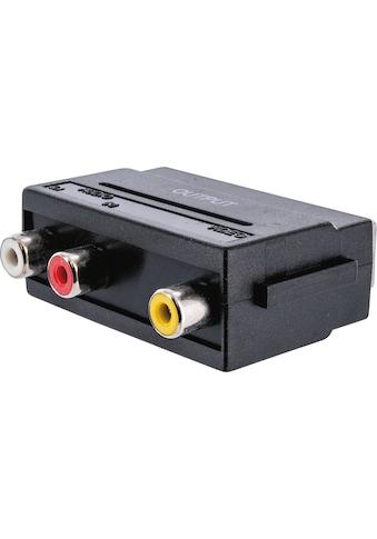 SCHWAIGER Scart Adapter, Audio Video Adapter, Scart zu Cinch »AV Konverter Wandler... kaufen