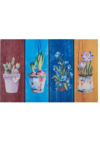Home affaire Fußmatte »Blumen«, rechteckig, 6 mm Höhe, Schmutzmatte, In- und Outdoor... kaufen