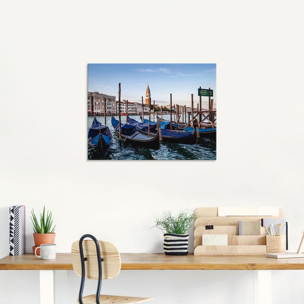 Artland Glasbild »Venedig Canal Grande mit Gondeln«, Boote & Schiffe, (1 St.)