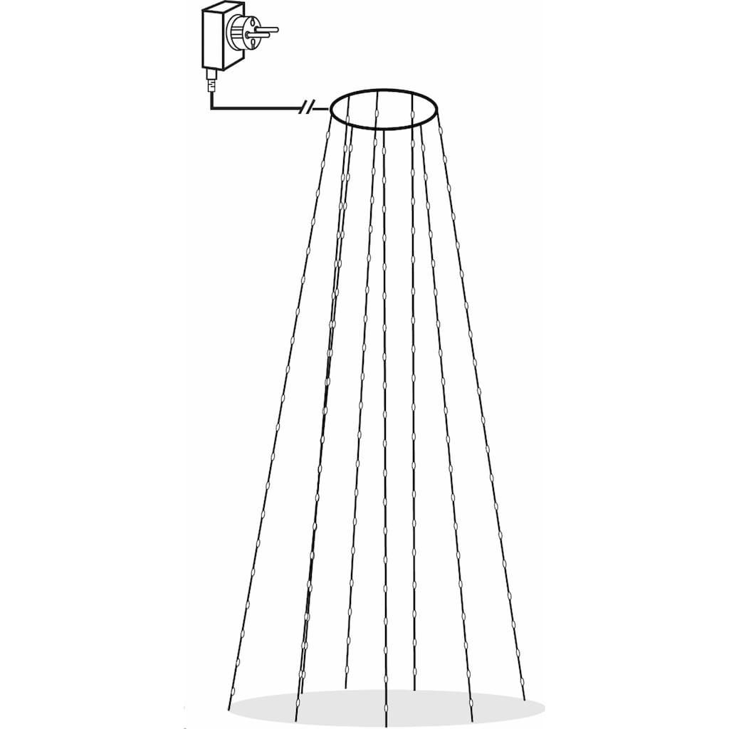 STAR TRADING LED-Lichterkette, Draht-Baumvorhang mit 208 LEDs