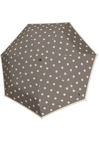Knirps® Taschenregenschirm »I.010 Small Manual, dot art taupe« kaufen