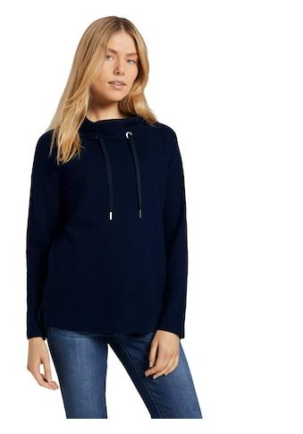 TOM TAILOR Sweatshirt, mit Rollkragen und Kordeln kaufen