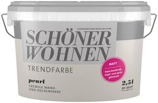 Schoner Wohnen Farbe Wand Und Deckenfarbe Trendfarbe Pearl Matt