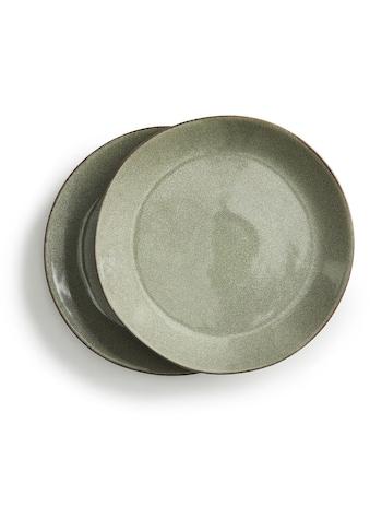 sagaform Kuchenteller »Nature«, (Set, 2 St.), Ø 22 cm, Steingut, jedes Stück ein Unikat kaufen