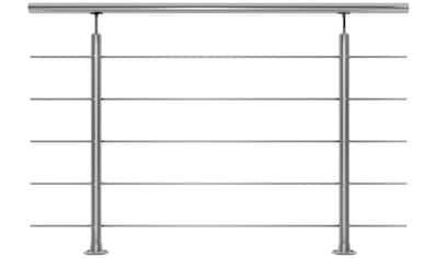 DOLLE Set: Treppengeländer 150 cm Gesamtlänge, Bodenmontage kaufen