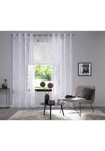 Gardine, »Anna«, my home, Ösen 1 Stück kaufen