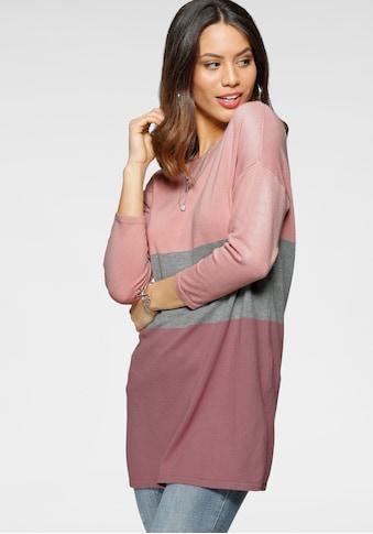 Laura Scott Rundhalspullover, im angesagten Streifen-Look - NEUE FARBEN kaufen