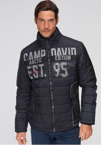 CAMP DAVID Steppjacke, mit großem Logoprint kaufen