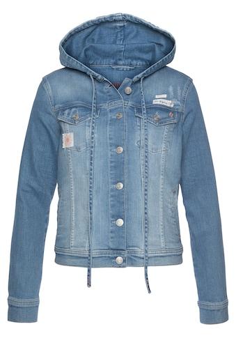 BLUE FIRE Jeansjacke »GIPSY-BF«, mit passender Denim Kapuze und Kordelzug kaufen