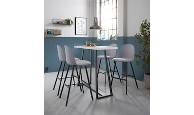 Bartisch »Fabio«, Gestell schwarz, Höhe 105 cm, Höhe bis Tischunterkante 100,7 cm kaufen