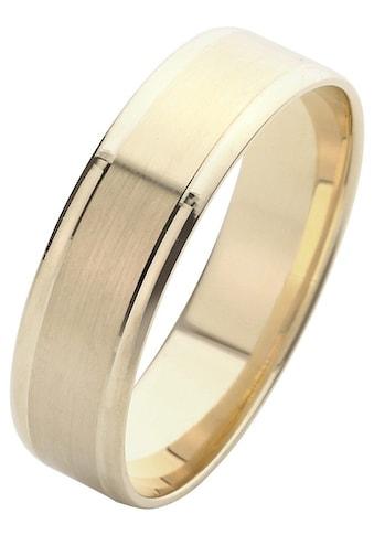 Firetti Trauring mit Gravur »6,0 mm, glanz, seidenmatt, Diamantschnitt, Gelbgold« kaufen