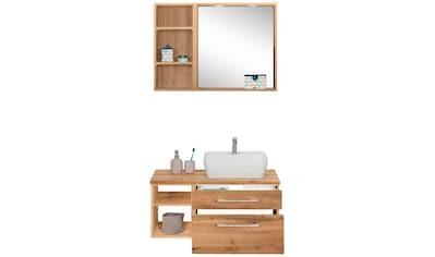 HELD MÖBEL Badmöbel-Set »Davos«, (3 St.), Waschplatz mit Regal und Spiegel kaufen