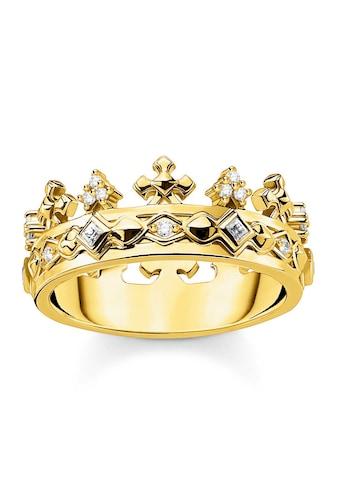 THOMAS SABO Silberring »Krone Gold, TR2302-414-14-48, 50, 52, 54, 56, 58, 60«, mit Zirkonia kaufen