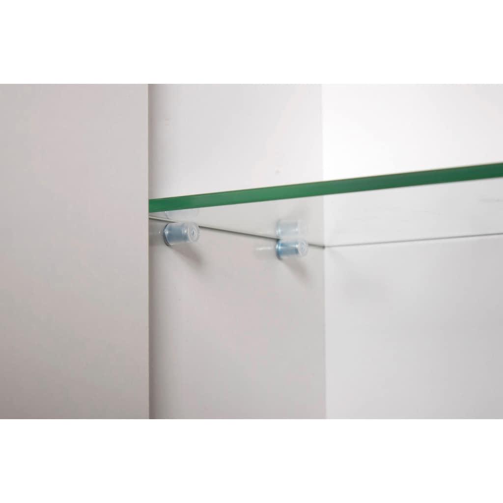 Schildmeyer Spiegelschrank »Basic«, Breite 90 cm, 3-türig, Glaseinlegeböden, Made in Germany