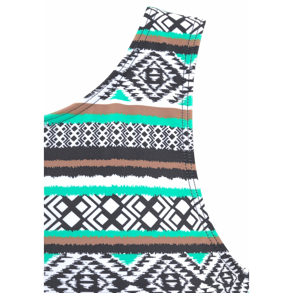 LASCANA Bade-Shirt, mit Ethno-Print