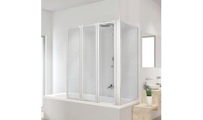 SCHULTE Badewannenaufsatz mit Teleskopstange und Seitenwand, BxHxT: 128,8x140x75 cm kaufen