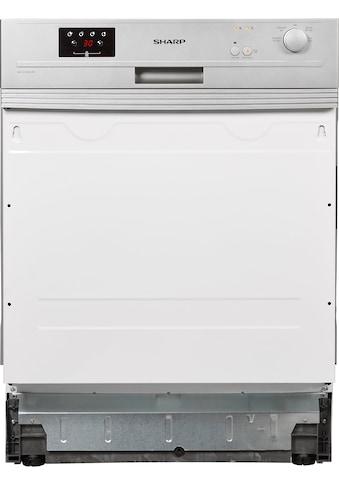 Sharp teilintegrierbarer Geschirrspüler, QW-GX13S47ES-DE, 12 Maßgedecke kaufen