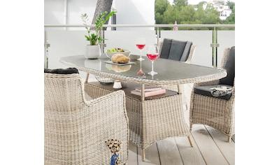 DESTINY Gartentisch »Luna«, Polyrattan, 180x100 cm kaufen