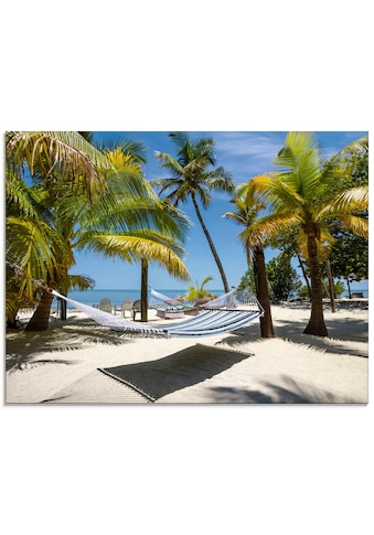Artland Glasbild »Florida Keys Relax«, Strand, (1 St.) kaufen