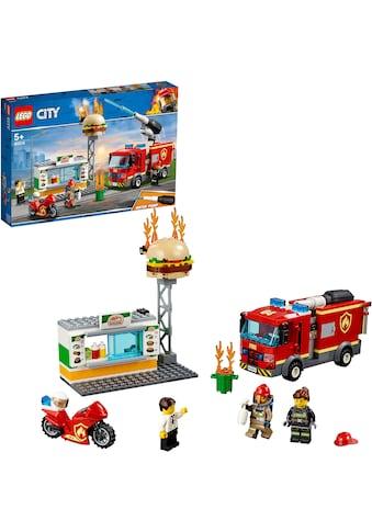 LEGO® Konstruktionsspielsteine »Feuerwehreinsatz im Burger-Restaurant (60214), LEGO®... kaufen