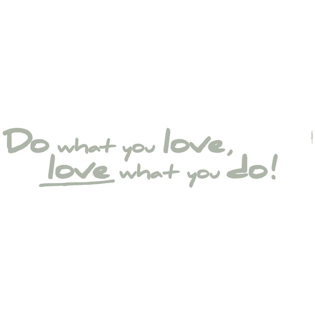KOMAR Packung: Wandtattoo »Do what you love«, 2-teilig