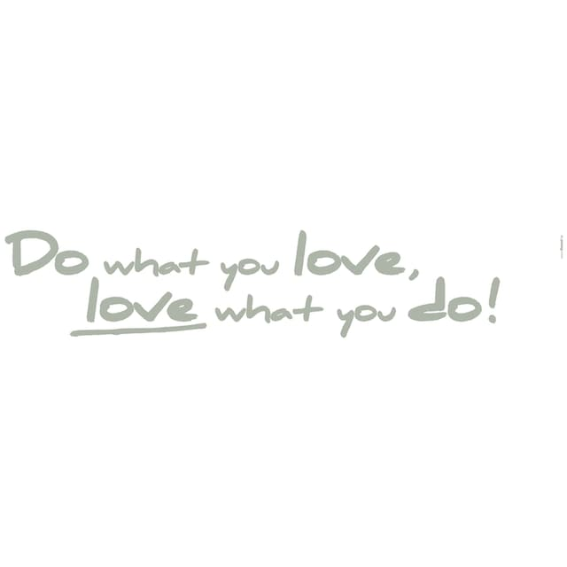 KOMAR Packung: Wandtattoo »Do what you love«, 2-teilig