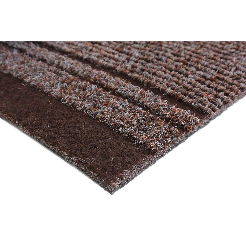 Primaflor-Ideen in Textil Läufer »MALAGA«, rechteckig, 6 mm Höhe, Schmutzfangläufer, Schmutzfangteppich, Schmutzmatte, robust, strapazierfähig und pflegeleicht