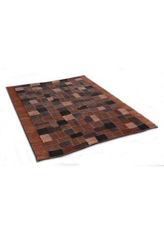 DIE HAUSKUNST Teppich »Niyoncondon«, rechteckig, 4 mm Höhe, Flachgewebe, handgewebt,... kaufen