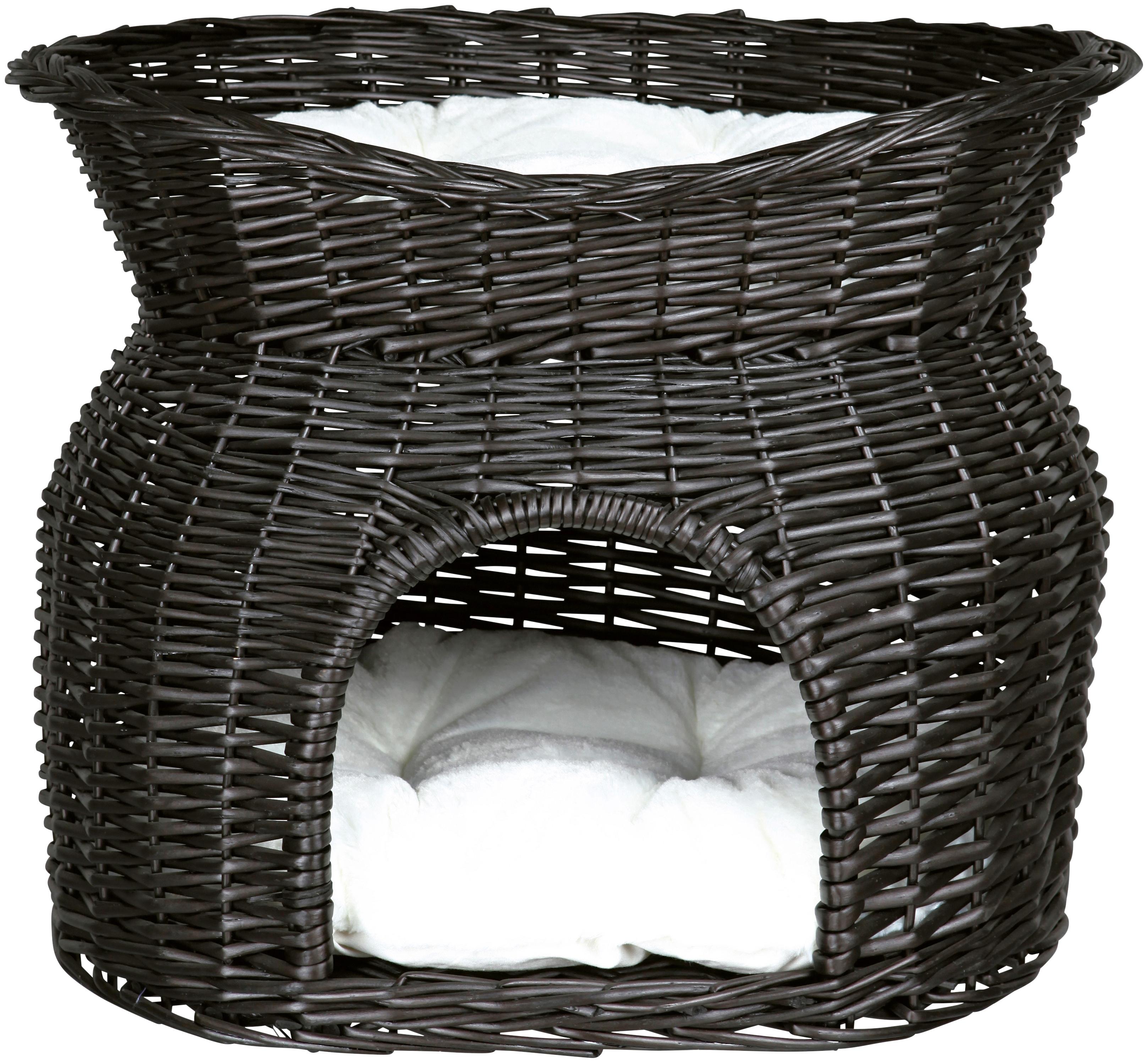 TRIXIE Katzen-Korbturm, B/L/H: 54/43/37 cm, schwarz | Garten > Tiermöbel > Katzenkörbe | Schwarz | TRIXIE