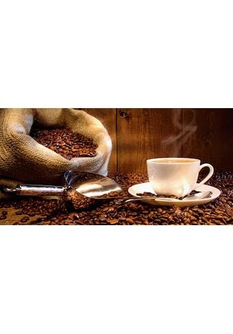 Home affaire Glasbild »S. Cunningham: Kaffeetasse und Leinensack mit Kaffeebohnen« kaufen