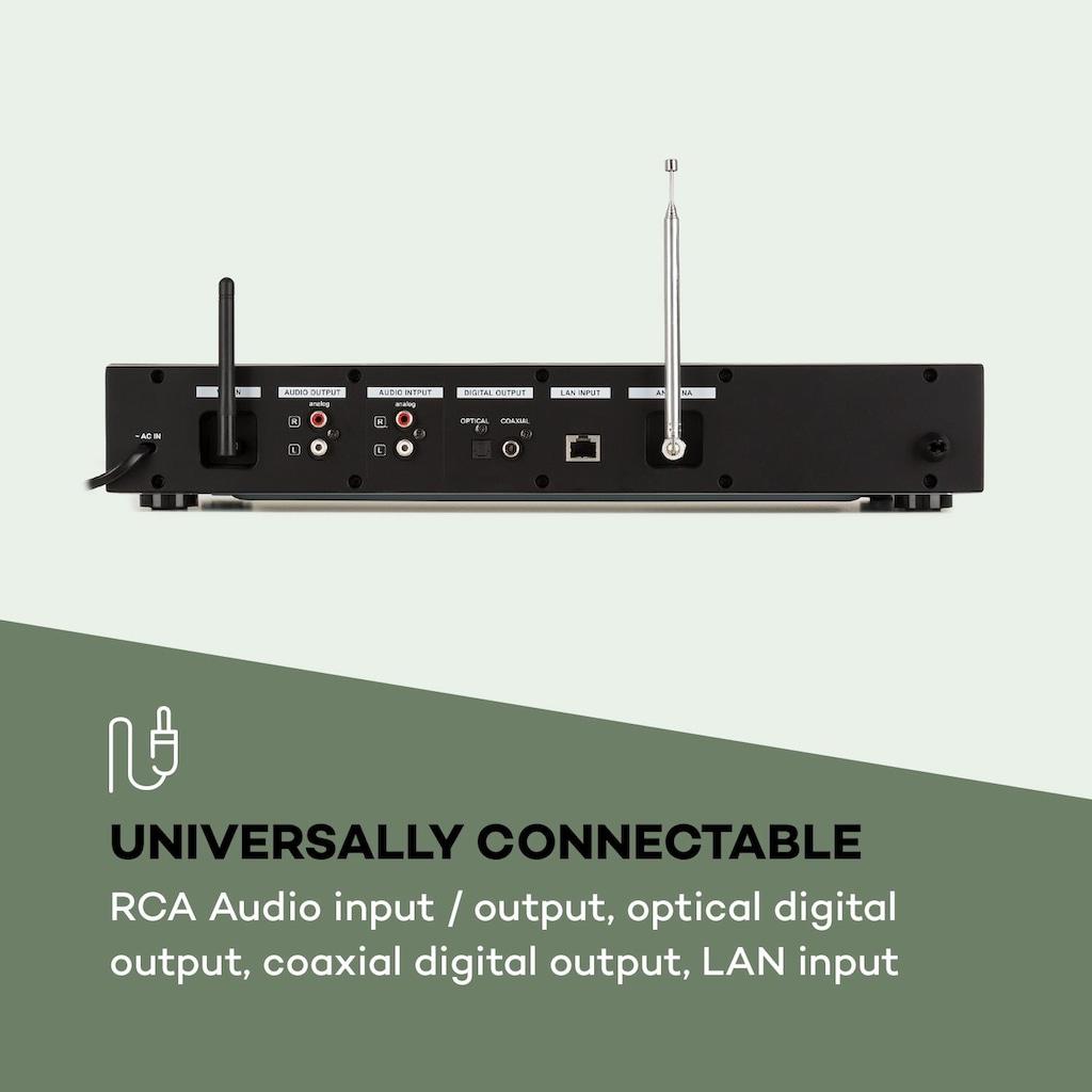 Auna HiFi-Receiver Internet/DAB+/ FM Radio CD-Player WiFi schwarz