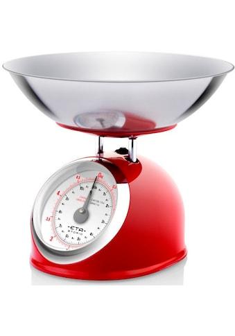 eta Küchenwaage »STORIO rot ETA577790030 Retro«, (2 tlg.), analog, Ganzmetall-Design... kaufen