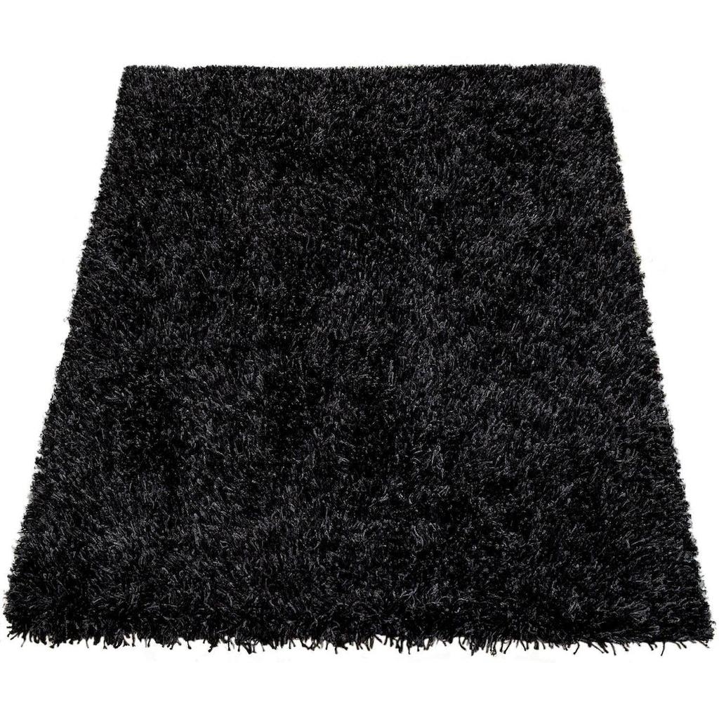 Hochflor-Teppich, »Fluffy 420«, Paco Home, rechteckig, Höhe 75 mm, maschinell gewebt