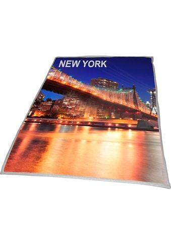 Goldmond Wohndecke »New York Bridge«, mit aufgedrucktem Motiv kaufen