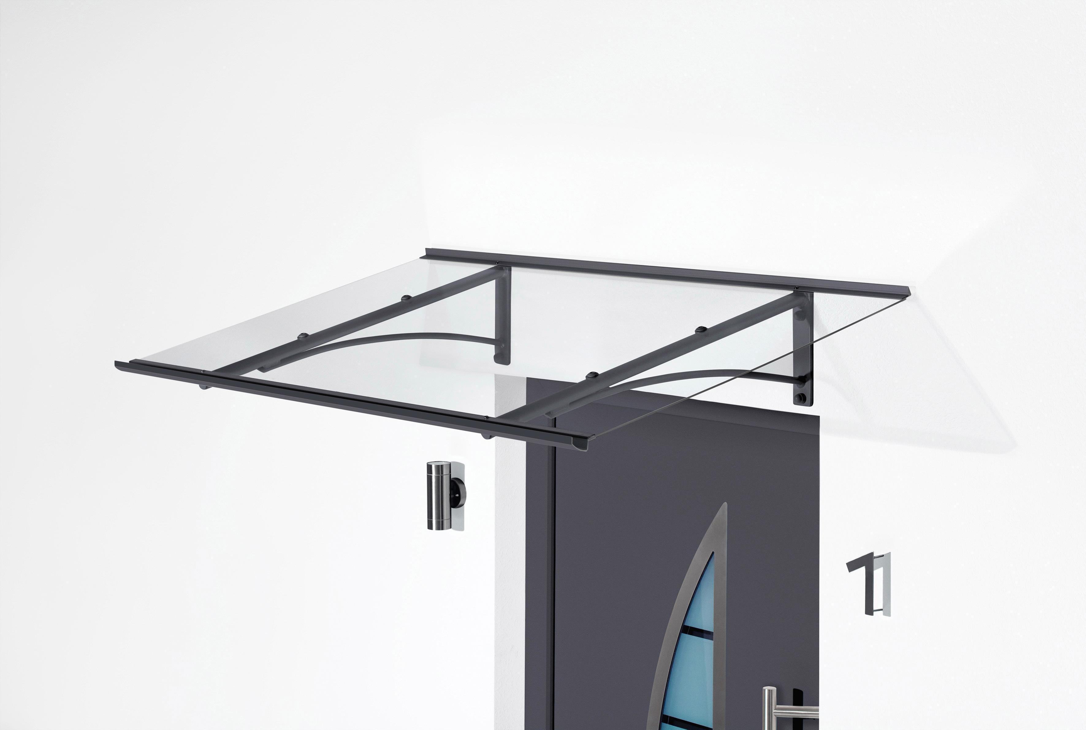 Gutta Pultvordach »TYP PT/GR«, BxT: 160x90 cm, anthrazit-transparent   Baumarkt > Modernisieren und Baün > Vordächer   GUTTA