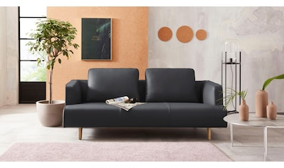 hülsta sofa 3,5-Sitzer »hs.440«, wahlweise in Stoff oder Leder, Fuß Eiche natur kaufen