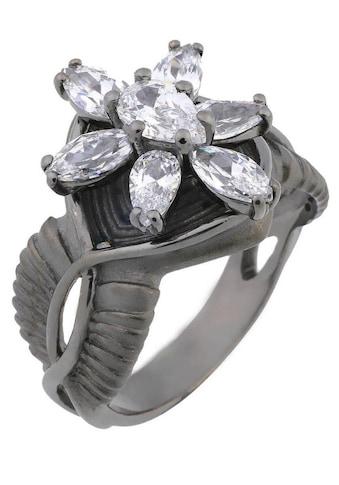 Der Herr der Ringe Fingerring »Dark Years Collection Arwens Abendstern  -  schwarz weiß, 20002140« kaufen