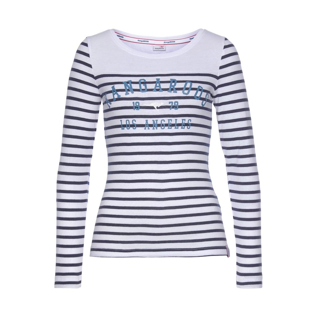 KangaROOS Langarmshirt, mit Marken-Schriftzug im Brustbereich