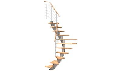 DOLLE Mittelholmtreppe »Frankfurt Buche 65«, bis 258 cm, Edelstahlgeländer, versch. Ausführungen kaufen