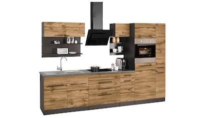 HELD MÖBEL Küchenzeile »Tulsa«, mit E-Geräten, Breite 320 cm, schwarze Metallgriffe,... kaufen